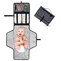 ‏‪TBYC Portable Changing Pad ? Diaper Changing Pad ? Soft Built-In Pillow - Baby Changing Mat ? Easy to Carry Wrist Strap for Travel ? Mesh Pocket for Baby Essentials ? Waterproof and Easy to Clean‬‏