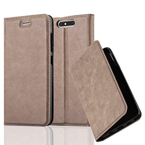 Cadorabo Hülle für ZTE Blade V8 - Hülle in Kaffee BRAUN – Handyhülle mit Magnetverschluss, Standfunktion und Kartenfach - Case Cover Schutzhülle Etui Tasche Book Klapp Style