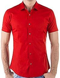 Redbridge Cipo & Baxx Slim Fit Kurzarm Hemd Business Hochzeit Freizeit