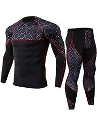 zarupeng Chándal de otoño Invierno Hombres Traje de Deportiva Hombres Compresión Leggings Camuflaje Deportes Running Yoga