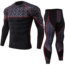 Ropa térmica Deportiva Transpirable para Hombre ZARLLE Camiseta Térmica Técnica de Compresión para Hombres Manga Larga