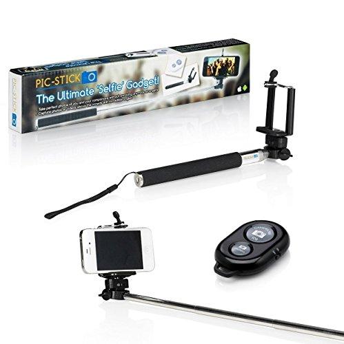 Der Original Pic Stick, ausziehbares Einbeinstativ / Selfie-Stange & Kabellose Bluethooth-Fernbedienung für iPhone & Android