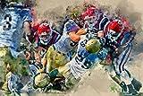 Leinwand American Football 120x80cm, Special-Edition - 4