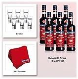 Ramazzotti Promotionpaket 6 x 1 Liter incl. Gläser und Servietten