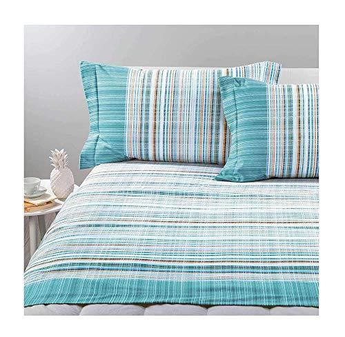 Caleffi Bettwäsche-Set für Einzelbett, Bettdecke und British Anis (British-bettwäsche-set)