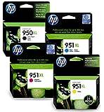 HP950XL & HP951XL Full Set of Original High Capacity Printer Ink Cartridges HP 950XL / HP 951XL - Fits HP Officejet Pro 8100, 8600, 8600 Plus,