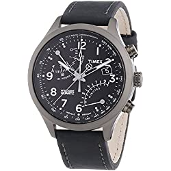 Timex Men's Special Intelligent Quartz Flyback Chronograph with Leather Strap
