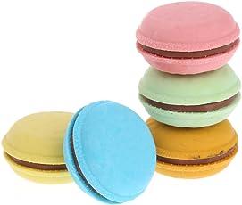Hergon 5 Stücke Bunte Macaron Form Radiergummi Schule Büromaterial Liefert Geschenk Dekor