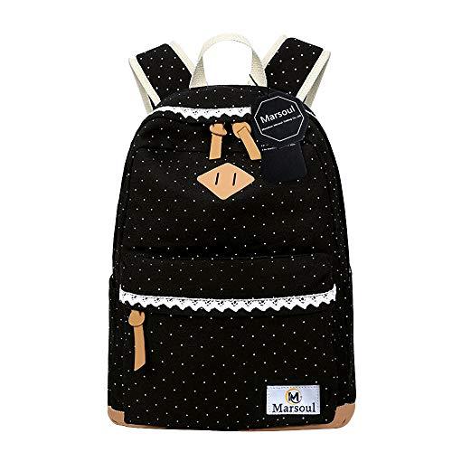 Rucksäcke für Mädchen, Marsoul Rucksack Frauen Weinlese-Stilvolle Damen-Beutel Rucksack (Lacy)