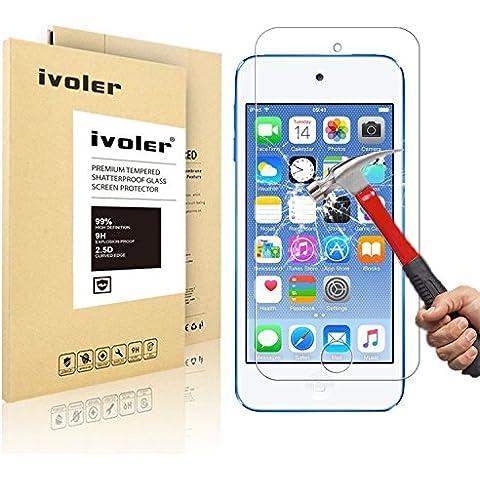 iPod Touch 6G & 5G Protector de Pantalla Cristal, iVoler® Film Protector de Pantalla de Vidrio Templado Tempered Glass Screen Protector para Apple iPod Touch 6G & 5G -Dureza de Grado 9H, Espesor 0,20 mm, 2.5D Round Edge-[Ultra-trasparente] [Anti-golpe] [Ajuste Perfecto] [No hay Burbujas]- Garantía Incondicional de 18