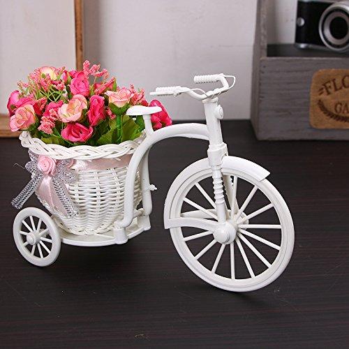 Blumenkorb, Creative Handmade Dreirad/Bike Form Blumen Korb für Blumen Speicher für Home Hochzeit Party Decor Arrangement
