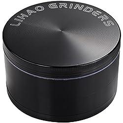"LIHAO - 3""(7.5cm) Grinder Spezie Erbe Grinder in 4 Pezzi Tritino in Metallo"