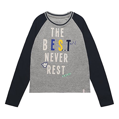 ESPRIT Jungen Langarmshirt RK10224, Grau (Light Heather Grey 221), 104