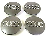 Set of Four Alloy Wheels Centre Hub Caps Grey Cover Badge 68 mm 8D0 601 170 Fits Audi 8d0601170 Set di 4 cerchioni Center Copricerchi Grigio Cover nuotatori 68 mm 8D0 601 170 Cabe Audi A3 A4 A5 A6 A7 A8 S4 S5 S6 Q3 Q5 Q7 TT A4L Z91L S Line quattro e altri modelli 8d0601170 68 mm