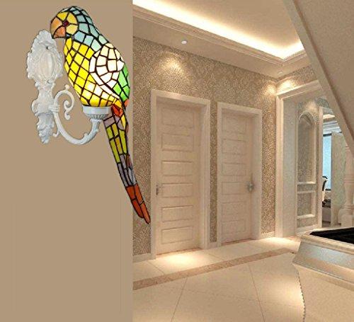 lampada da parete di Tiffany creativa camera da letto lampada da ...