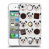 Head Case Designs Panda Süsse Tiere Soft Gel Hülle für Apple iPhone 4/iPhone 4S