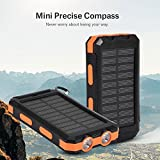 Squarex 10000mAh Dual USB banque d'alimentation Énergie solaire rechargeable DIY Box Coque avec éclairage LED, jaune
