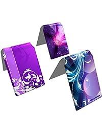 Stray Decor (Purple) 3x Étui à Cartes / Porte-Cartes pour Titres de Transport, Passe d'autobus, Cartes de Crédit, Navigo Pass, Passe Navigo et Moneo COMBO
