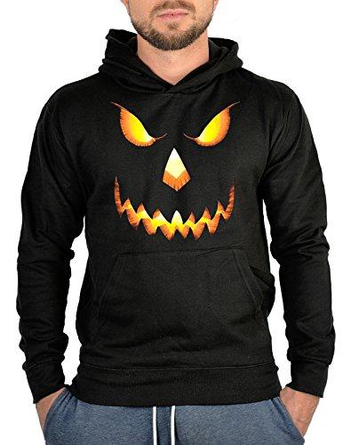 (Kapuzensweater Pullover Horror Halloween Gesicht Rock Halloween Totenkopf Pulli harte Kerle Hoody Sweater Kapuzen Sweater)