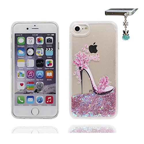 """iPhone 6S Plus Coque, Skin étui iPhone 6 Plus / 6S Plus 5.5"""", Design Glitter Bling Sparkles Shinny Flowing iPhone 6 Plus Case 5.5"""", (Licorne unicorn) résistant aux chocs & Bouchon anti-poussière talon hauts"""