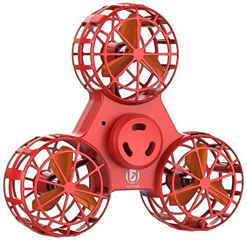 LMOOFG Drohnen für Kinder, Fliegen Drone Spielzeug, Angst Relief Dreieck Rotation Spinning Spielzeug Lustige Drone Interaktive Spiele for Kinder Erwachsene, Geschenke für Jungen und Mädchen