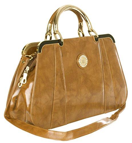 Big Handbag Shop, Borsa a mano donna Taglia unica Light Tan