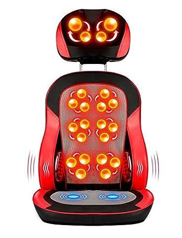HINEW Coussin électrique de massage de chaise avec la chaleur (taille 6 grande boule de massage chauffée, deux réfléchissant la lampe chauffante, avec le massage de vibration) , 2