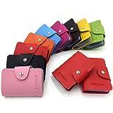 Porte-cartes de Crédit pour les Femmes Homme - 24 Fentes (Rouge)
