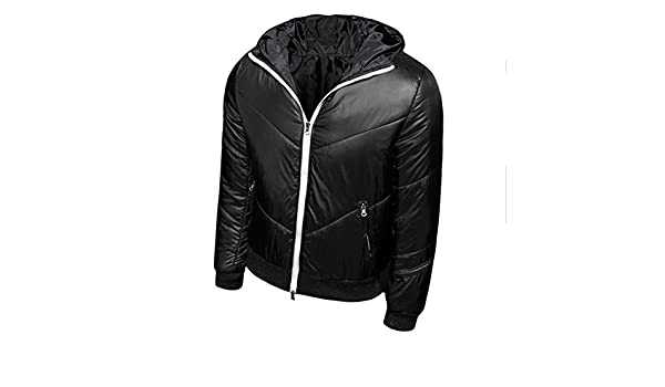 Meijunter Mens Slim Leisure Jacket Cotton Hooded Winter Thick Coat Overcoat Hoodie Outwear