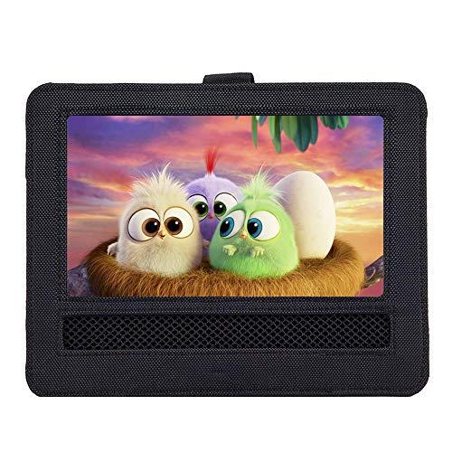 WONNIE Auto Kopfstützenhalterung für Drehgelenk & Flip Tragbarer DVD Player KFZ Kopfstütze Halterung Gehäuse (Black) (10.5 inch) -