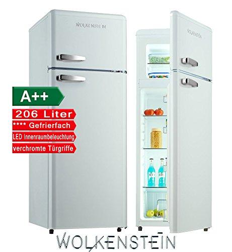 Retro Kühl-Gefrier-Kombination Weiß Glanz GK212.4RT A++ 206 Liter Nostalgie Design Kühlschrank