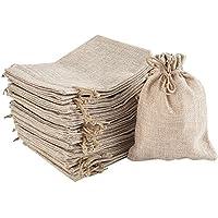 Irich 30 Stück Baumwolle Säckchen mit Kordelzug, Kleine Stoffbeutel für Kindergeburtstag Hochzeit Party DIY Handwerk Mitbringsel (5,12 * 7,09 Zoll)