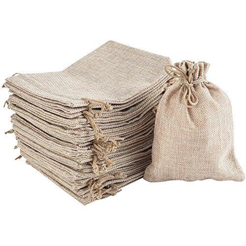 Irich 30 pezzi sacchetti juta con coulisse, 17,5 x 13cm insapore sacchetto regalo, candy bags per bomboniera festa matrimoni dolci regali confezione buste