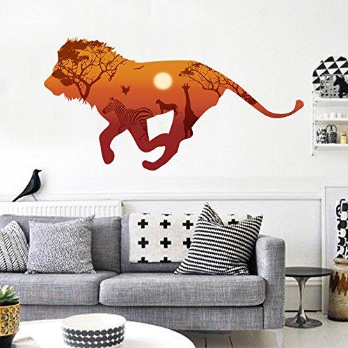 Wandsticker Löwe Afrika Tiere Wandtattoo Wandbilder Aufkleber für Tier Fans