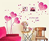 ufengke Fleurs En Forme de Coeur Cadre Photo Romantique Rose Stickers Muraux, Salle...