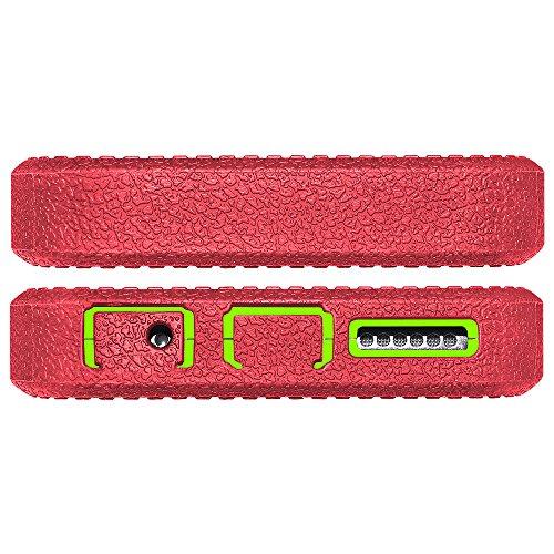 Amzer Crusta edge2edge Shell Housse Coque Étui robuste avec verre trempé et clip ceinture pour iPhone 6Or/Argent _ P Gold/Green/Red/Silver