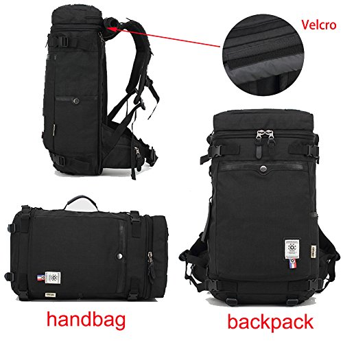 Reiserucksäcke, Fresion Wasserabweisend Tasche Multifunktionaler Rucksack Trekkingrucksäcke für Herren Damen Wandern Reisen (Oxford Schwarz) Grey