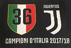 Idea Regalo - JUVENTUS F.C. - Perseo Trade S.R.L. Bandiera Juventus 36 Campioni d'Italia Prodotto Ufficiale Nera nuovo logo scudetto n°36 100 x 140