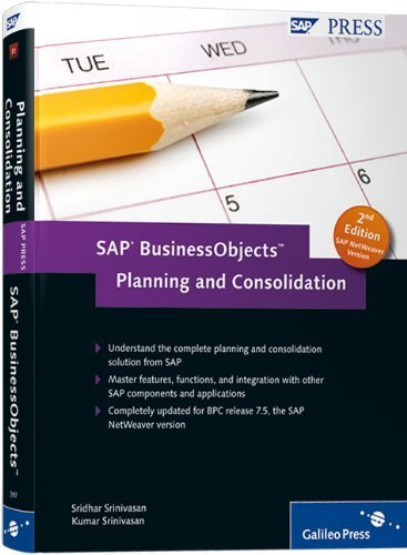 SAP BusinessObjects Planning and Consolidation by Sridhar Srinivasan (2011-05-28)