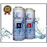 Resina Epoxi líquida supertransparente, 1,6 kg, bicomponente A+B, efecto agua para creaciones transparentes, resina para joyas y creaciones impresas, la más vendida de Resin Pro