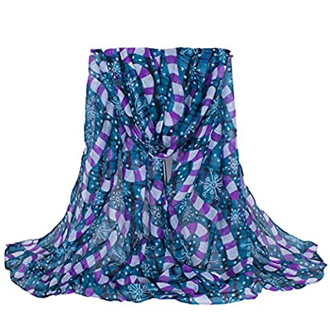 Rnow - Echarpe - Femme - bleu - Large