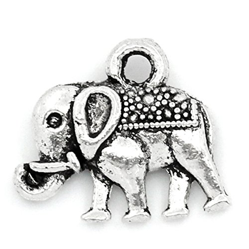 housweety-50-x-vintage-elephant-charms-tibetan-style-pendants-lead-free-nickel-free-antique-silver-1
