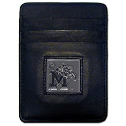 NCAA Memphis Tigers Leather Leather Money Clip/Cardholder Wallet