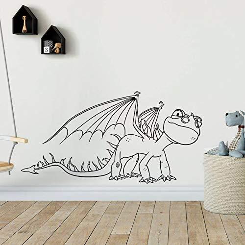 achen Wandtattoo Kindergarten Spielzimmer Dekor Drachen Baby Wand Vinyl Aufkleber Wald Tier Wandbild Home Art Decor 82 * 42 cm ()