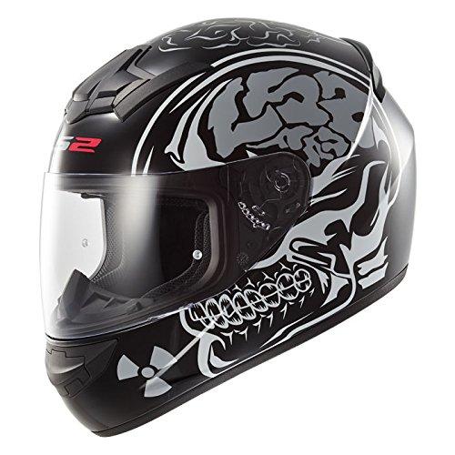 LS2FF352Neue X-Ray Full Face Motor Cycle Bike Racing Crash City UK Road Legal Helm und Sturmhaube -