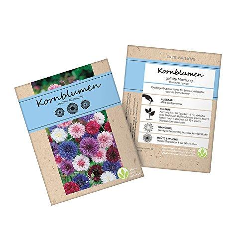 Colour-Bags Home & Living 1x Kornblumenmischung 1,0 g im Tütchen | Samen | Saatgut gentechnikfrei | Blumenmischung |Blumen | Garten | Kräuter | Gewürze | Blumensamen | Pflanzensamen