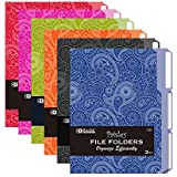 Office Supplies File Filing Organizers 9.75 x 11.5 Inches 9-Count Colored File Folders Letter Size Decorative File Folders Cute Watercolor and Gold Design 1//3-Cut Tabs