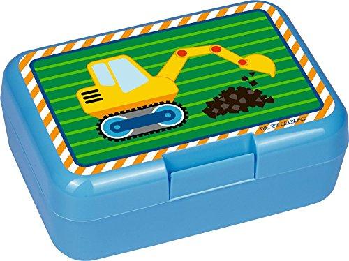 Kleine Freunde Collection Butterbrotdose Bagger BPA Frei 17x12x7cm mit Trennwand