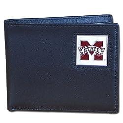 Mississippi St. Bulldogs Leather Bi-fold Wallet