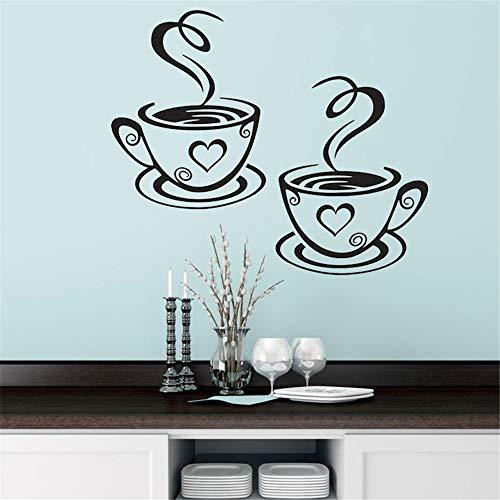 Wandtattoo Kinderzimmer Zwei Kaffeetassen Küchenbar Für Esszimmer Café Coffee Shop
